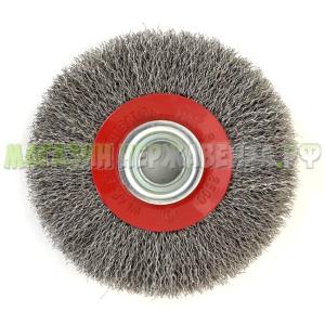 Щетка дисковая нержавеющая 125х22 ворс 0,3 (12Х18Н10Т) №545
