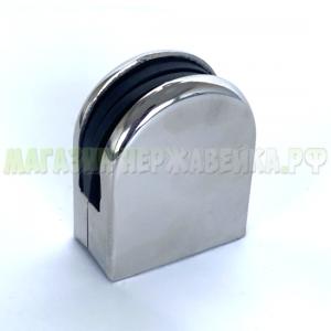Держатель для стекла на стойку 38 мм под стекло 8 мм штампованный (106-025)